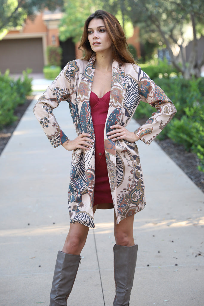 LAGUNA BEACH ART CLUB TAUPE COAT
