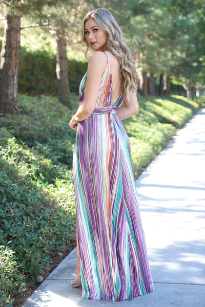SHINE ON MULTI COLOR MAXI DRESS