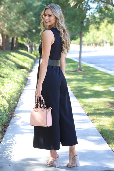 STEAL A KISS BLACK JUMPSUIT