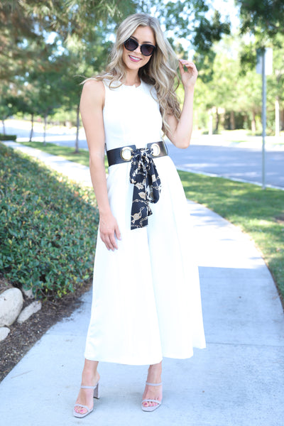 STEAL A KISS WHITE JUMPSUIT