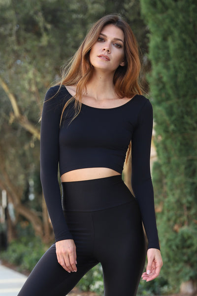 Long Sleeve Melissa Crop Top
