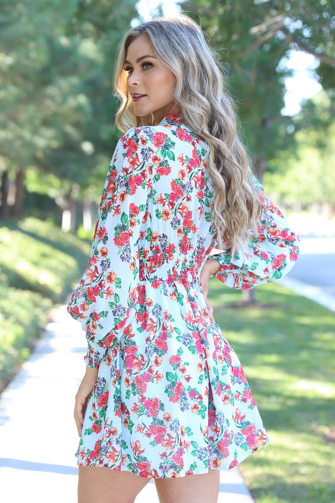 DREAMING BLUE FLORAL DRESS