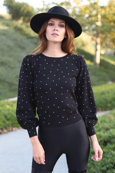 SWEET LOVE BLACK SWEATER