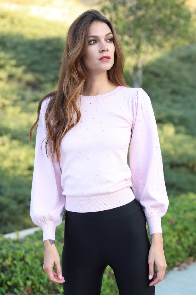 SWEET LOVE BLUSH SWEATER