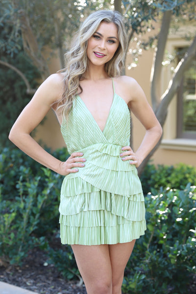 KEEPING YOU FOREVER OLIVE MINI DRESS