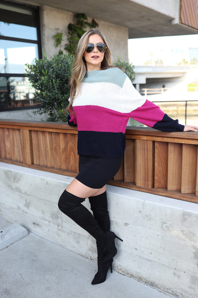UPTOWN HIGH TIDE MULTI COLOR SWEATER