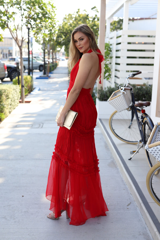 ROMANTIC MEMORIES RED LACE DRESS