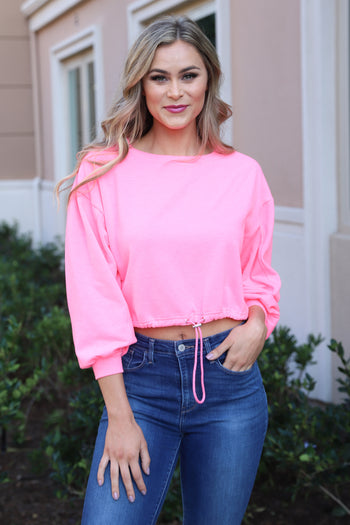 BASIC TREND PINK LONG SLEEVES TOP