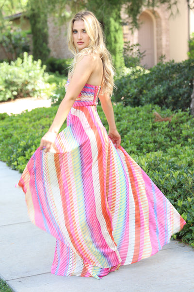 BEAUTIFUL MOMENTS PINK MAXI DRESS
