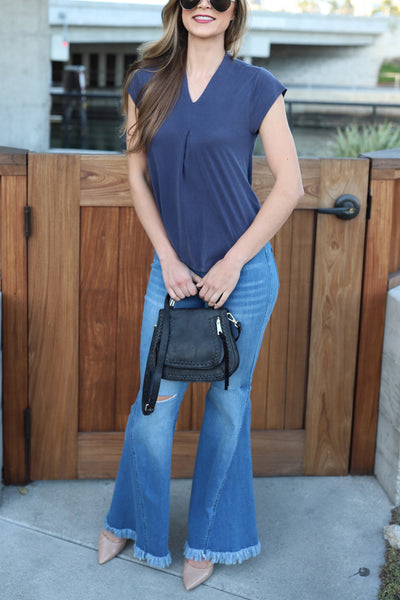 PEACEMAKER BLUE SLEEVELESS TOP