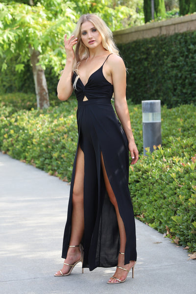 MOMENTS OF LIFE BLACK JUMPSUIT