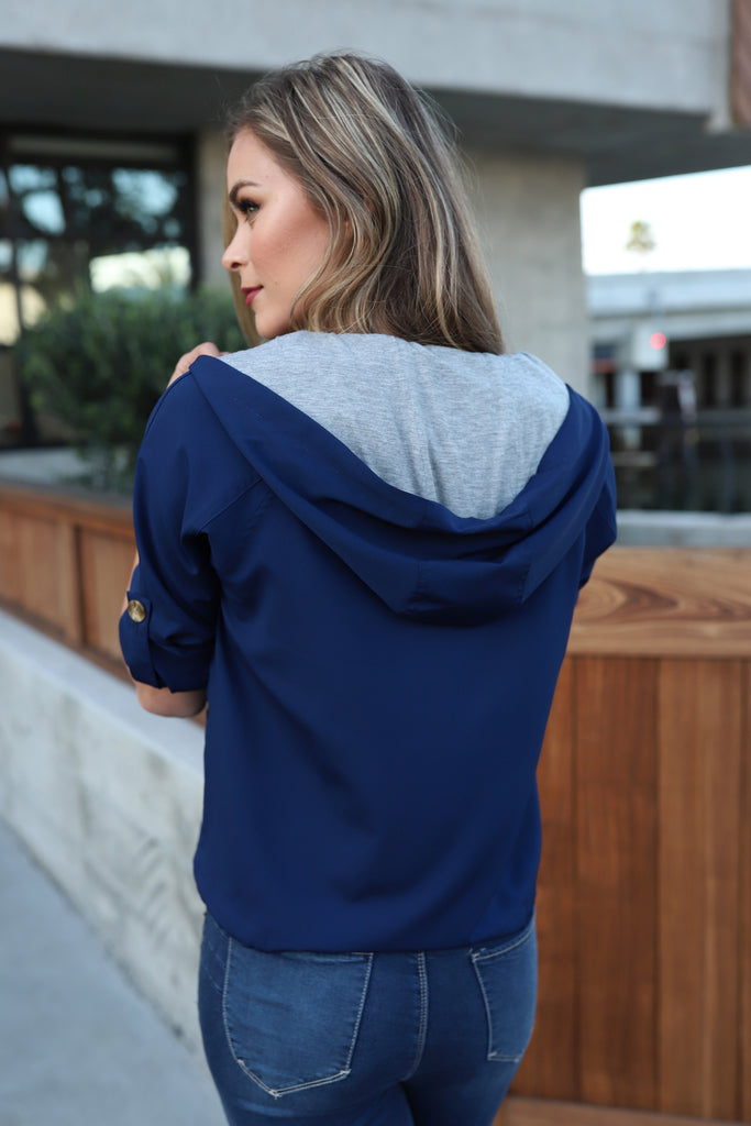 OWN THE DAY NAVY SPRING JACKET