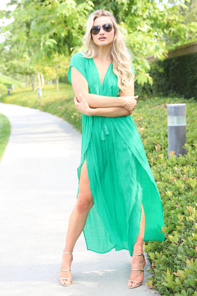 LUCKY BABE IN GREEN COVER UP