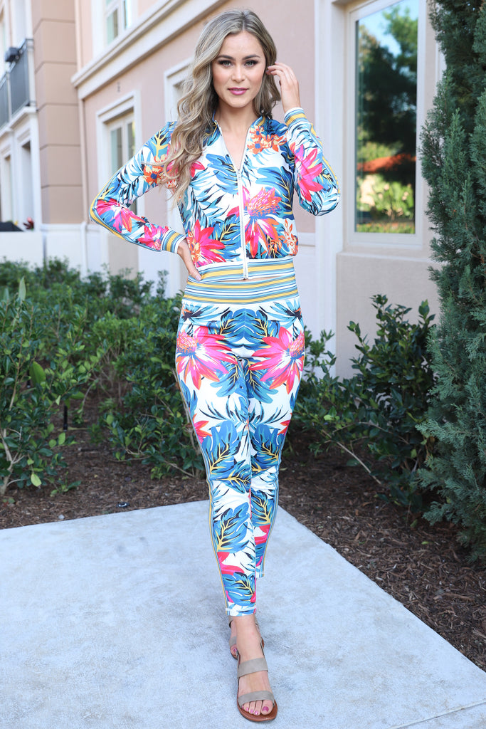 LOST IN PARADISE FLORAL PANTS