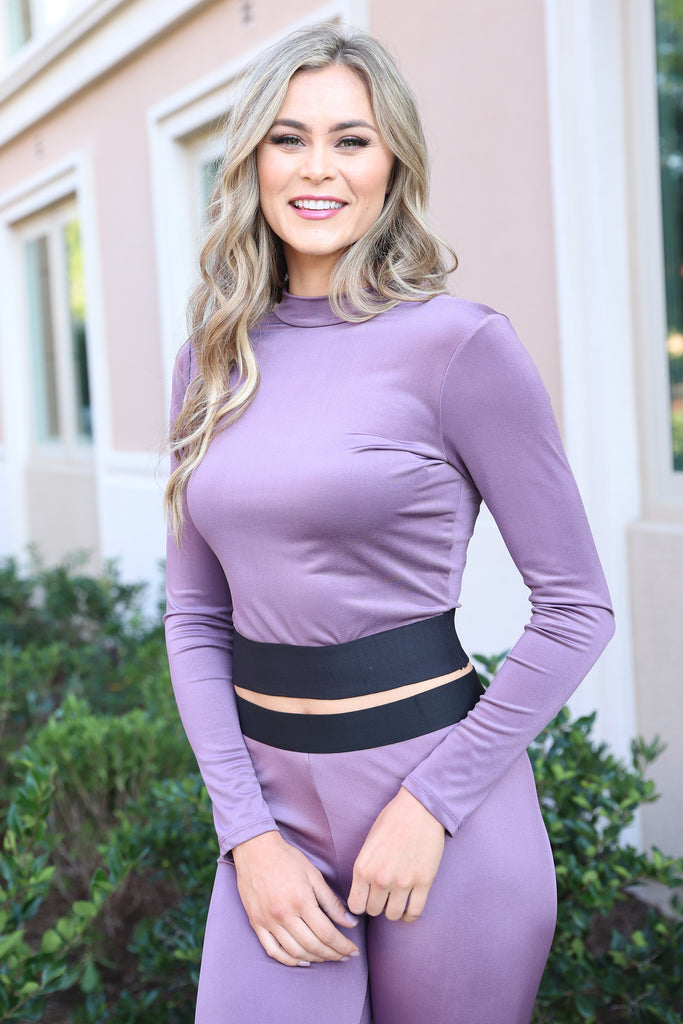 KEEP IT CUTE LAVENDER TOP