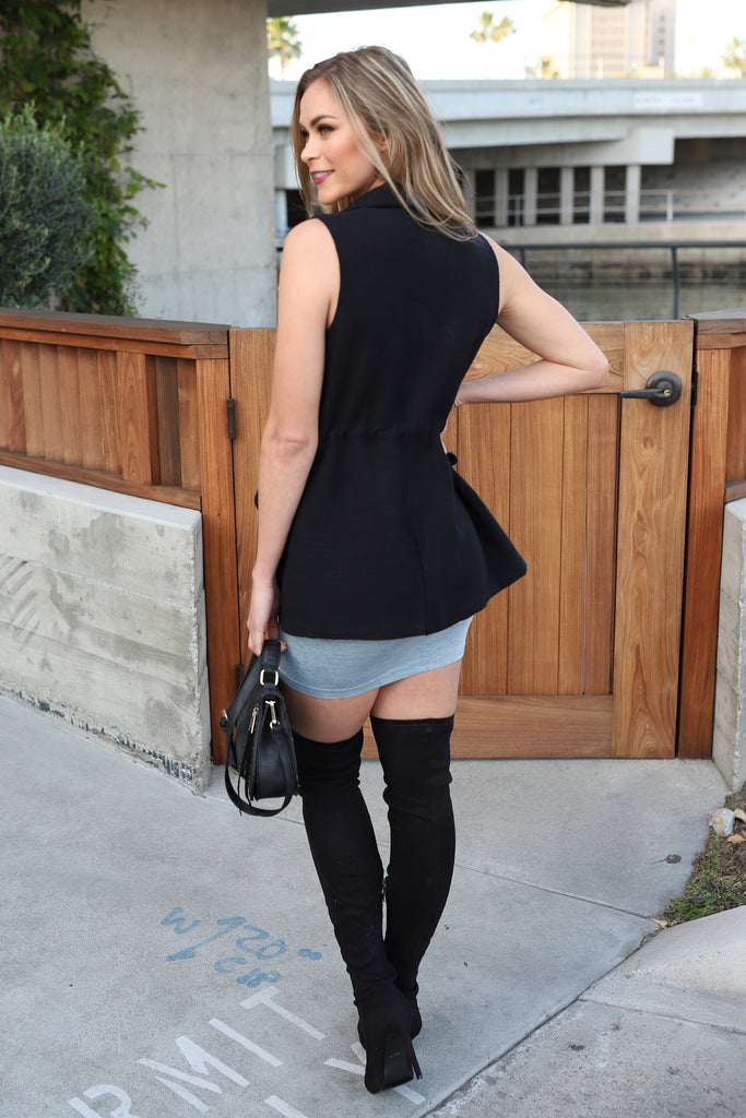 A CHIC IN PARIS BLACK VEST