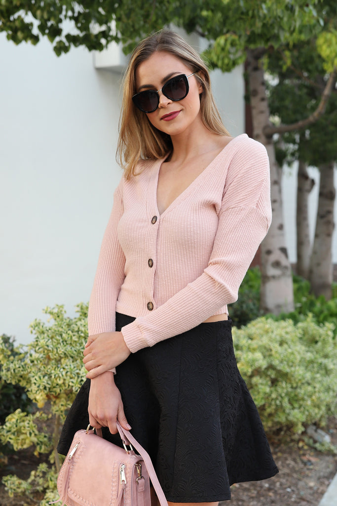 LOST IN ROMANCE BLUSH SWEATER