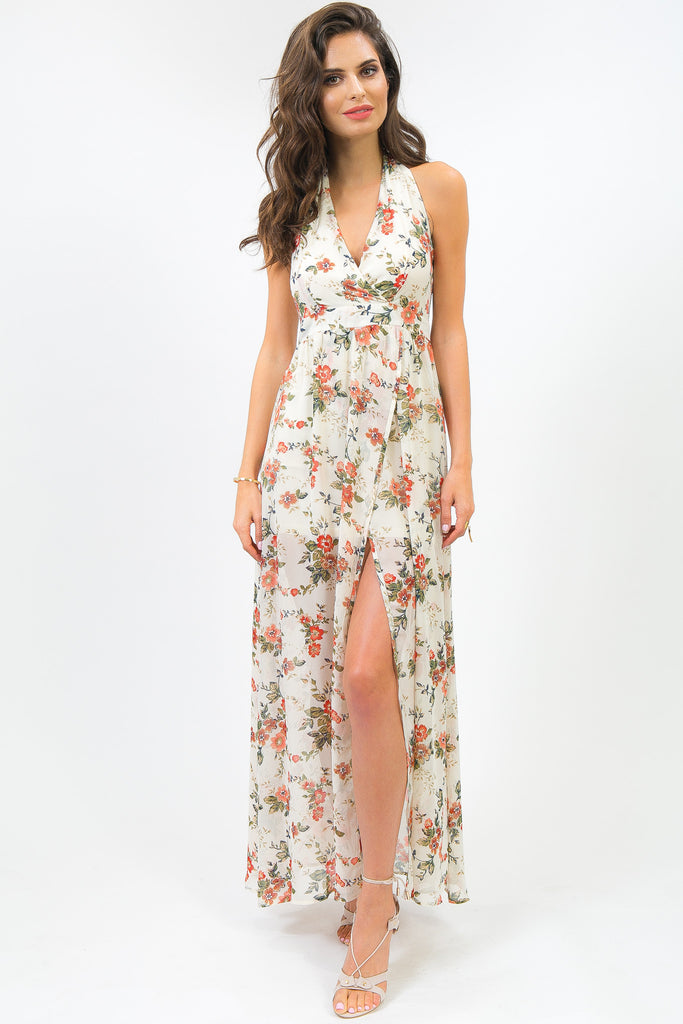 Celesitine Cream Floral Garden Dress
