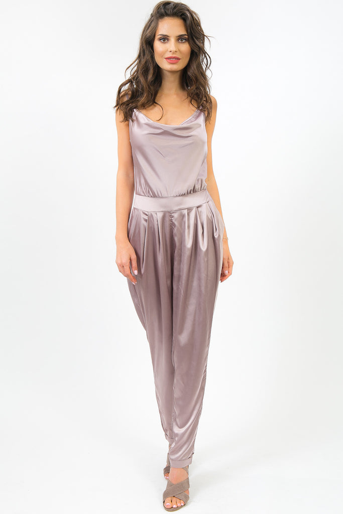 Opal Purple Silky Sonbol Jumpsuit