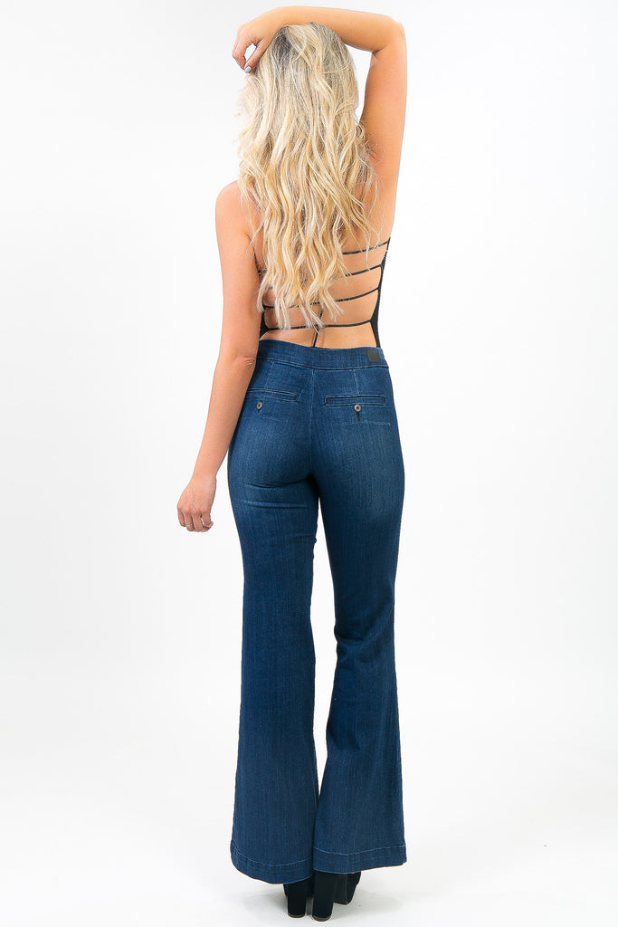 Dark Wash Denim Tasha Trousers