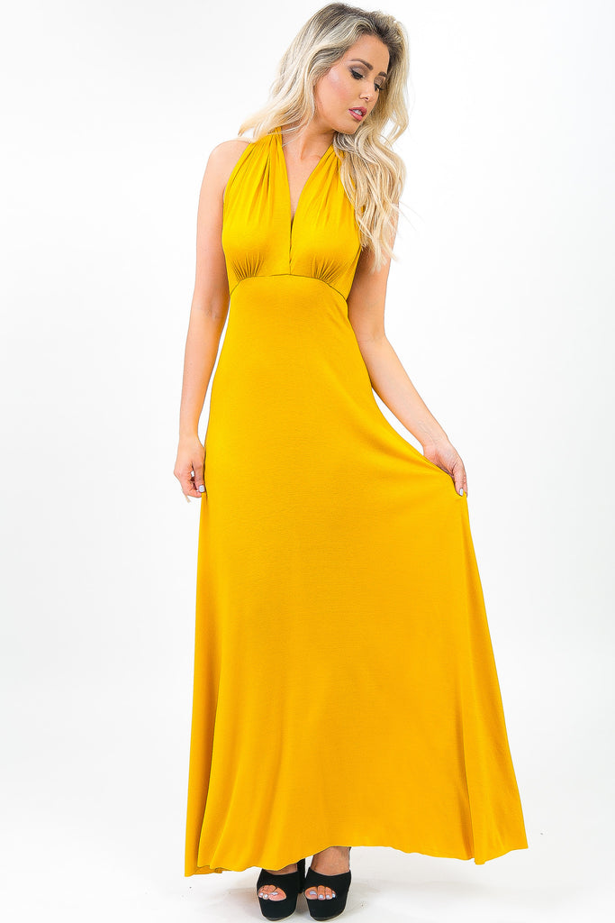 Canary Yellow Colette Maxi Dress