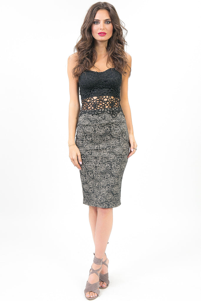 Black and Grey Rosabella Skirt