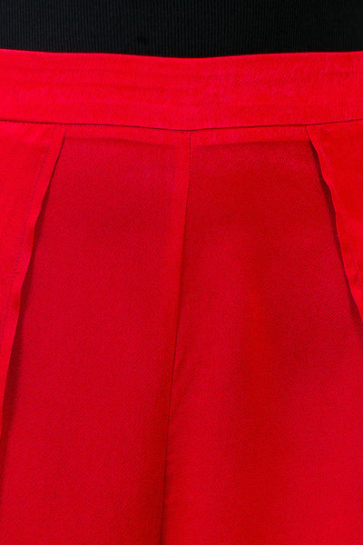 Red Shiny Selina Pants