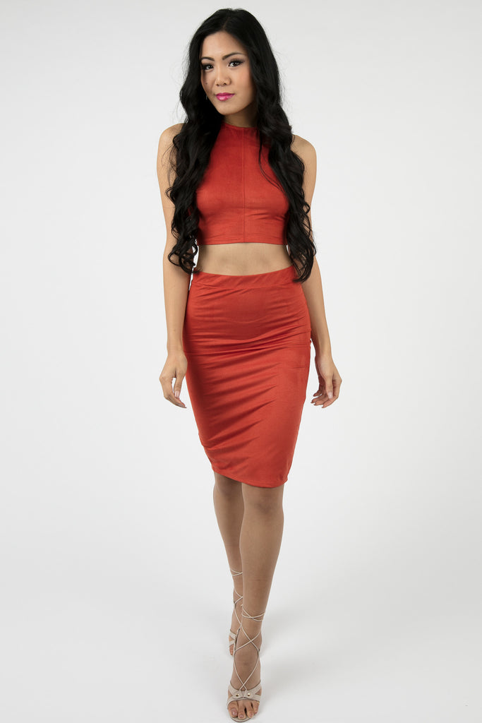 Burnt Orange Belasima Two Piece Set