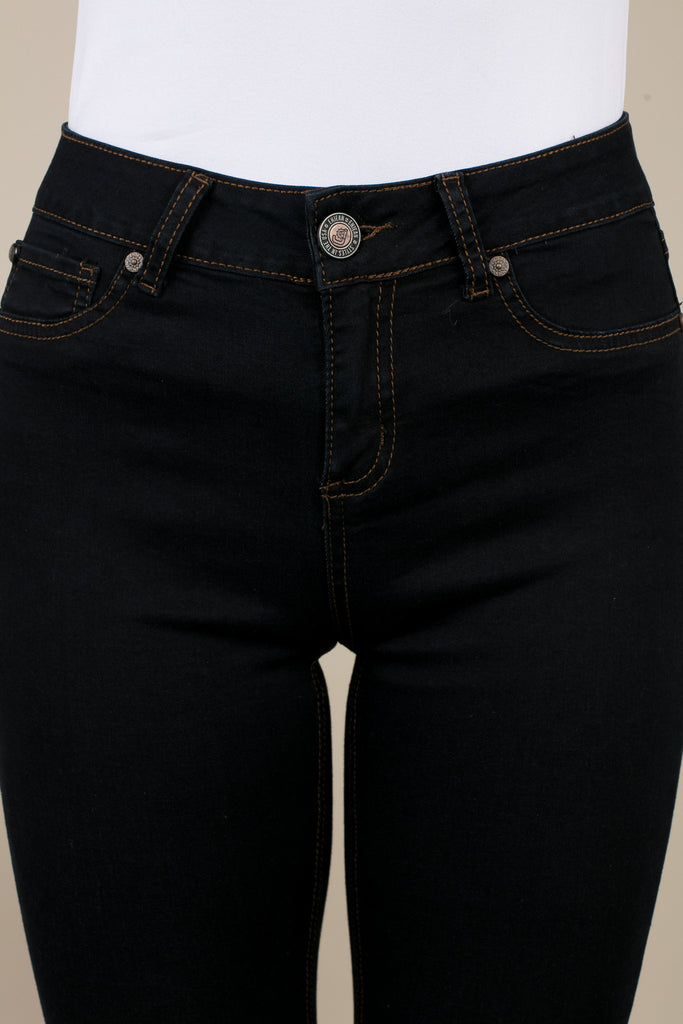 Dark Indigo Blue Washed Denim Jeans
