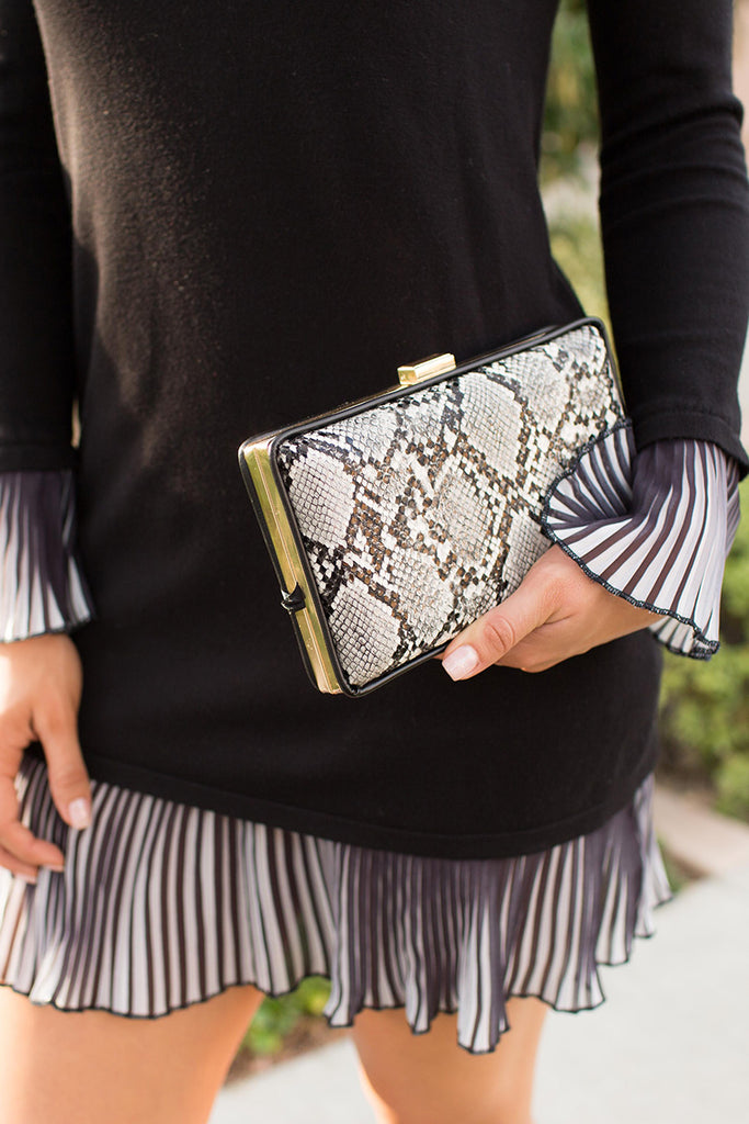 LOVE ANIMAL PRINT CLUTCH