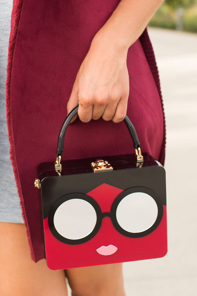 PRE-ORDER: EDNA DARLING HARDSHELL PURSE RED