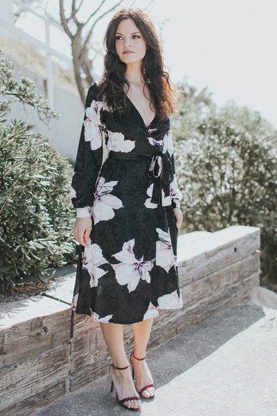 SOPHIA IN THE GARDEN BLACK VELVET DRESS