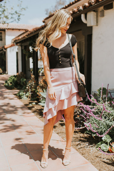 MARVELOUSLY MAGICAL BLUSH SKIRT