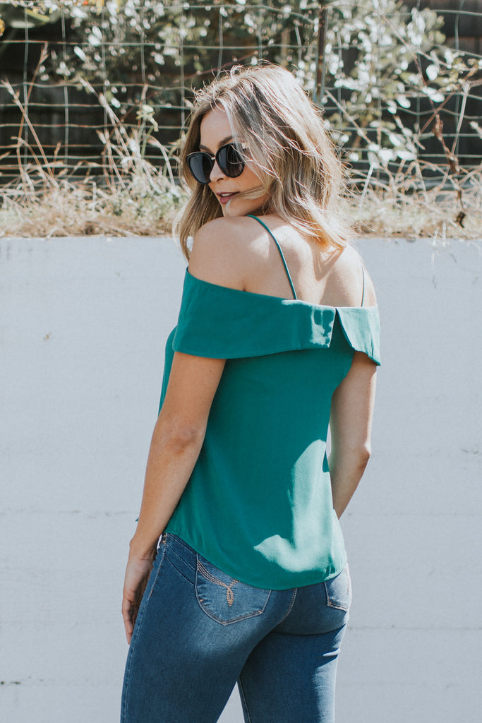 SECRET KISSES GREEN TOP