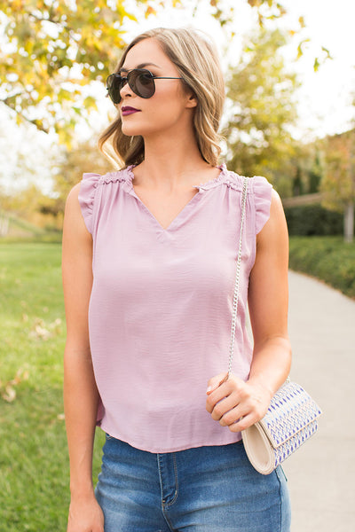 CHIC OF THE TOWN BLUSH TOP