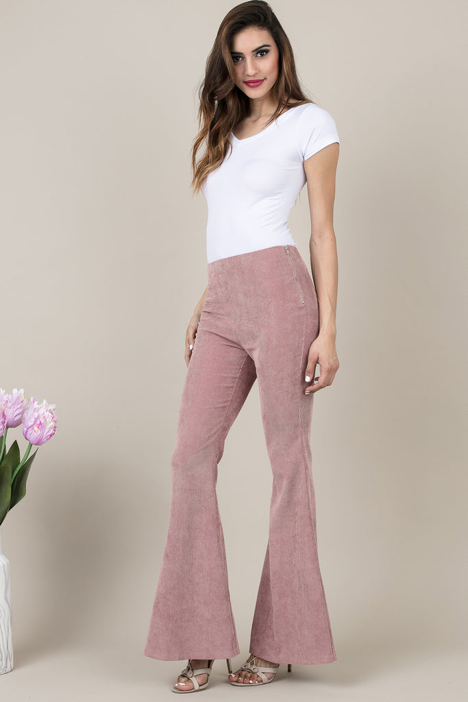 Dusty Pink Pinta Flare Pants