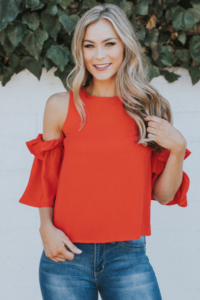 ALWAYS STUNNING & STYLISH RED TOP