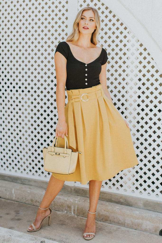 PRE-ORDER: SUNNY SIDE YELLOW SKIRT