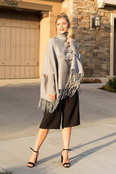 PRE-ORDER: ONCE UPON A TIME GREY PONCHO