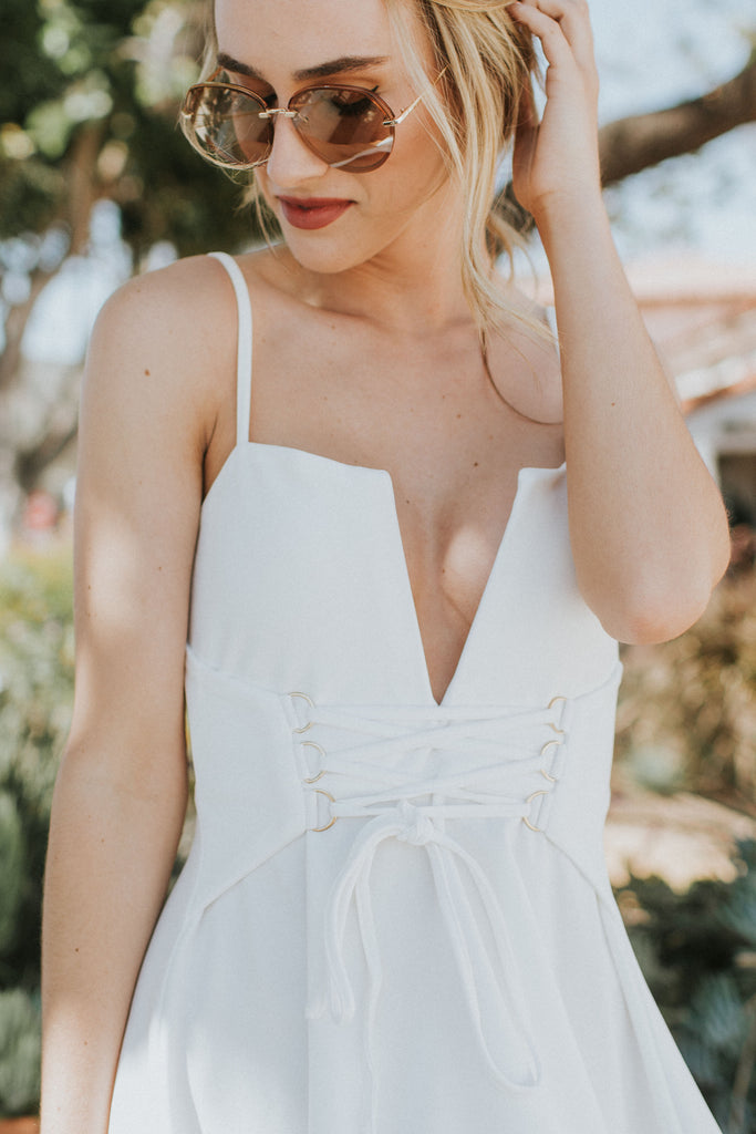 ALL TIED UP WHITE DRESS