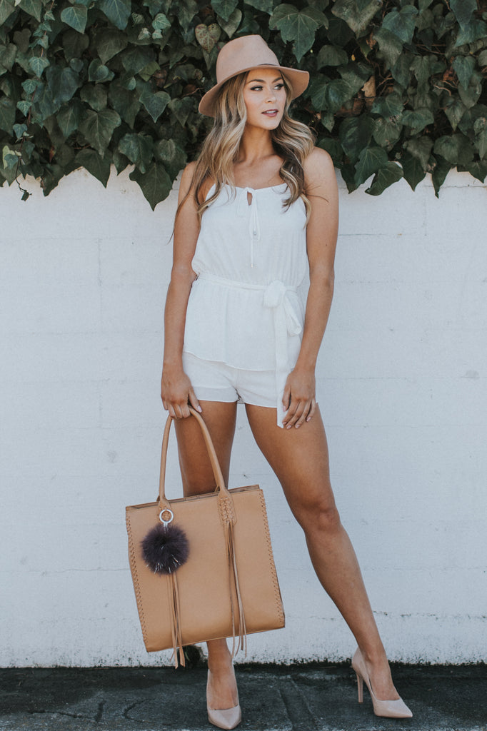 ADORE YOU ANYWAYS WHITE ROMPER