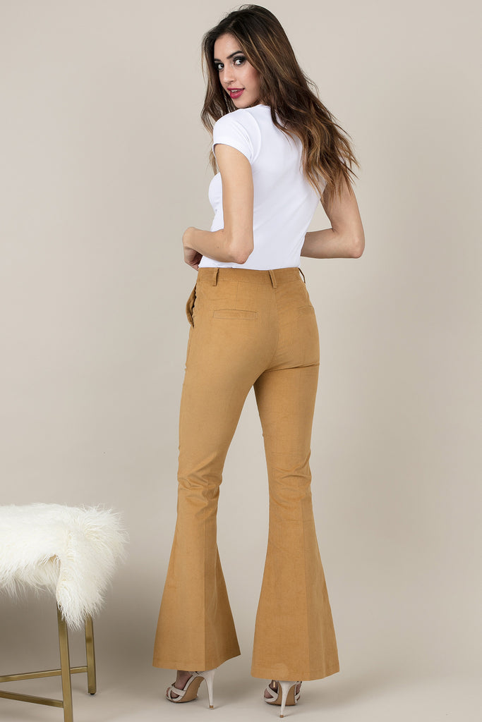 Camel Brown Flare Pants