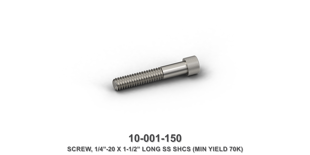 "1/4""-20 x 1-1/2"" Long Stainless Steel SHCS Screw"