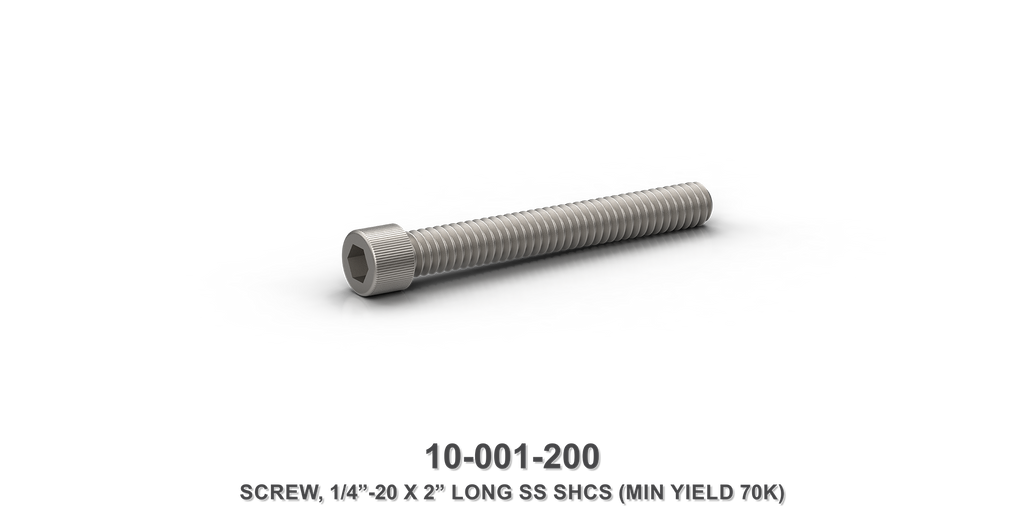 "1/4""-20 x 2"" Long Stainless Steel SHCS Screw"