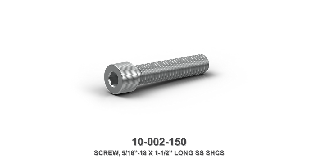 "5/16""-18 x 1-1/2"" Long Stainless Steel SHCS Screw"