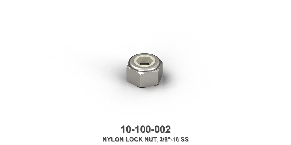 "3/8""-16 Stainless Steel Nylon Lock Nut"