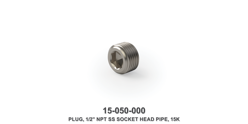 "15K 1/2"" NPT SS Socket Head Pipe Plug"