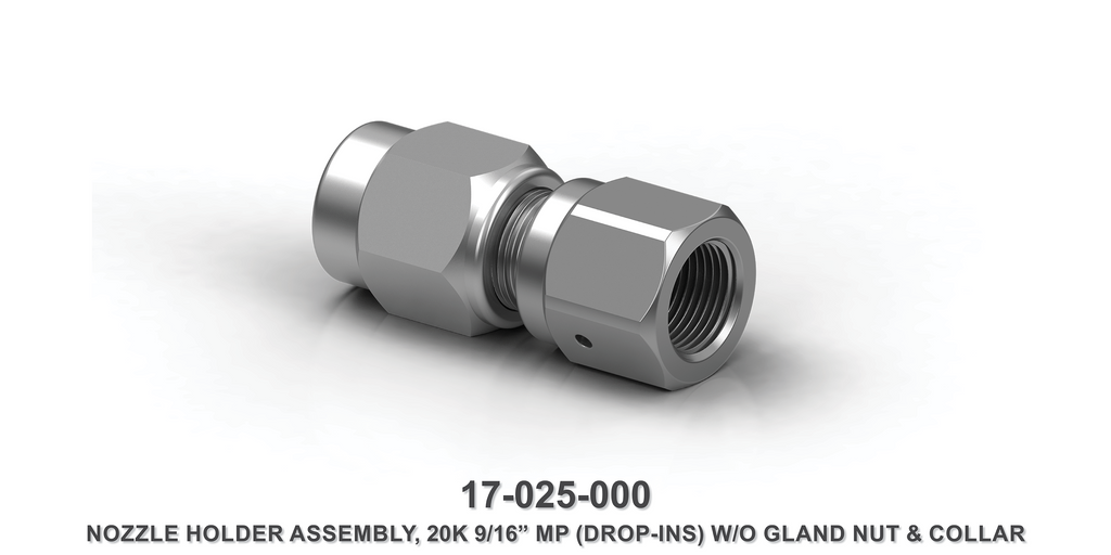 "20K 9/16"" Nozzle Holder Assembly with 9/16"" MP without Gland Nut and Collar"