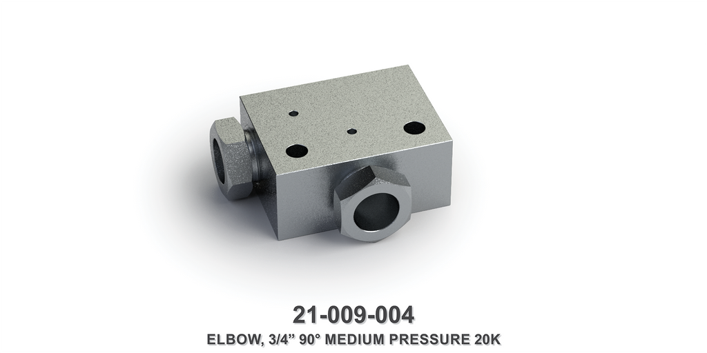 "20K 3/4"" 90-Degree Medium Pressure Elbow"