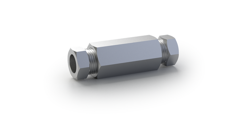 20K Autoclave Style Straight Coupler